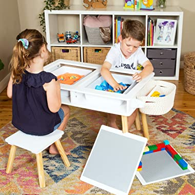 Elk and Friends Kids/Toddler Multi Activity Table   Building Blocks Desk  Table with Storage   Craft Play Table Plus Paper Ro