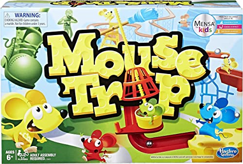 Hasbro Gaming Mouse Trap Board Game For Kids Ages 6 And Up, Classic Kids Game
