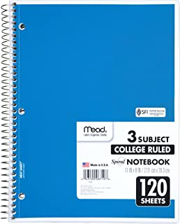 Mead MEA 05510 Sold as 1 Each Spiral Notebook,1-Subject,Wide Rule,70 Sht,10-1//2x8,AST
