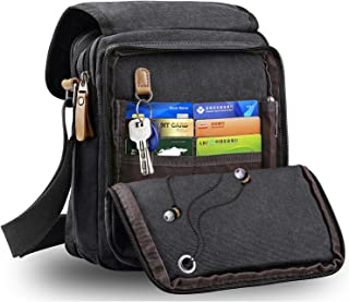 Harwish Men s Multifunctional Canvas Messenger Handbag Outdoor Sports Over Shoulder  Crossbody Side Bag 4c57f84afceaa