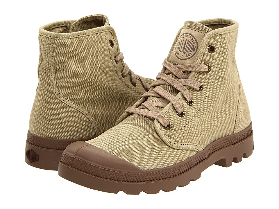 Palladium Pampa Hi (Stonewashed Dark Khaki) Men