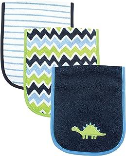 Luvable Friends Unisex Baby Cotton Burp Cloths with Fiber Filling, Dinosaur, One Size