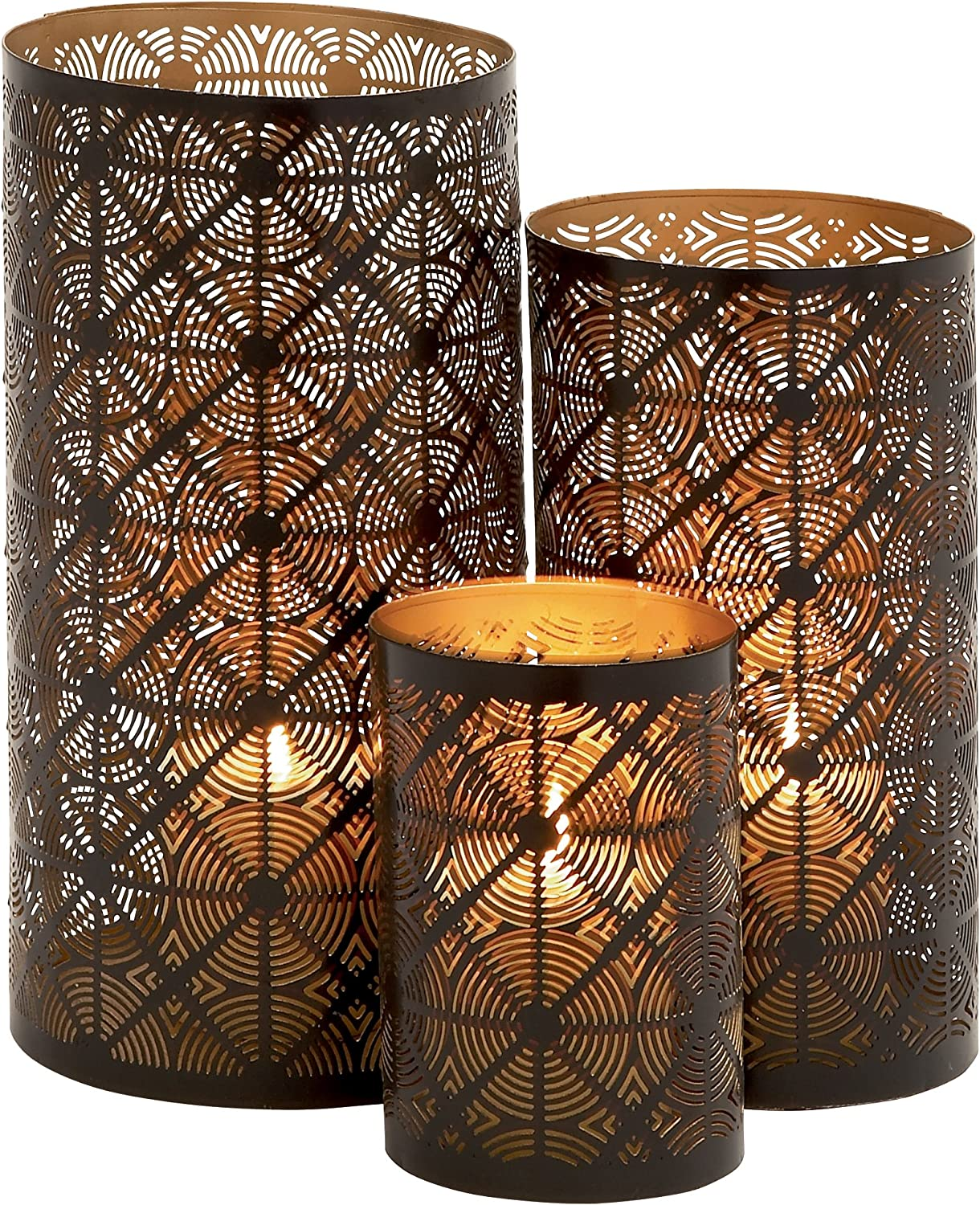 Deco 79 Metal Candle Holder 12 Finally popular Financial sales sale brand S 6-Inch Brass 10 by Bronze