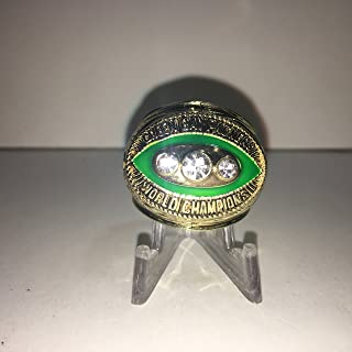 1967 Bart Starr #15 Green Bay Packers High Quality Replica 1967 Super Bowl II Ring Size 11-Gold Colored