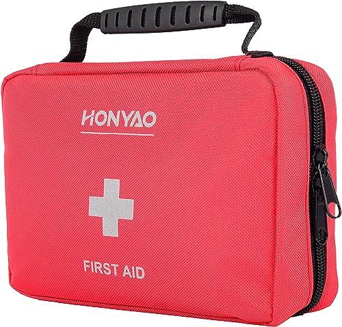 HONYAO Trousse de Premier Secours, Complète First Aid Kit Médicale - Boîte de d'urgence de Survie pour Voiture Maison...