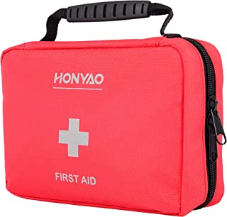 HONYAO Trousse de Premier Secours, Complète First Aid Kit Médicale - Boîte de d'urgence de Survie pour Voiture Maison Bate...