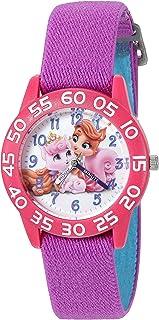 """ساعة """"بالاس بيت"""" كوارتز بلاستيكية و نايلون للبنات من ديزني - بنفسجي موديل W002833"""