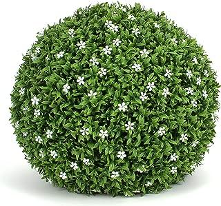 3rd Street Inn White Flower Grass Topiary Ball - 15