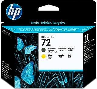 HP (Hewlett Packard) Original C9384A HP 72 Matte Black and Yellow DesignJet Printhead, Matte Black/Yellow