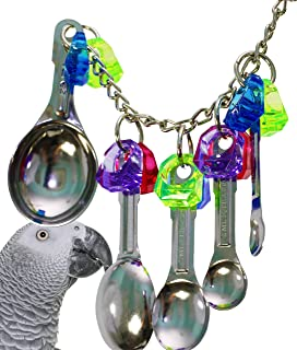 Bonka Bird Toys Cup Sneaker Spoon Delight Parrot Toy African Grey Bird Cage Cages