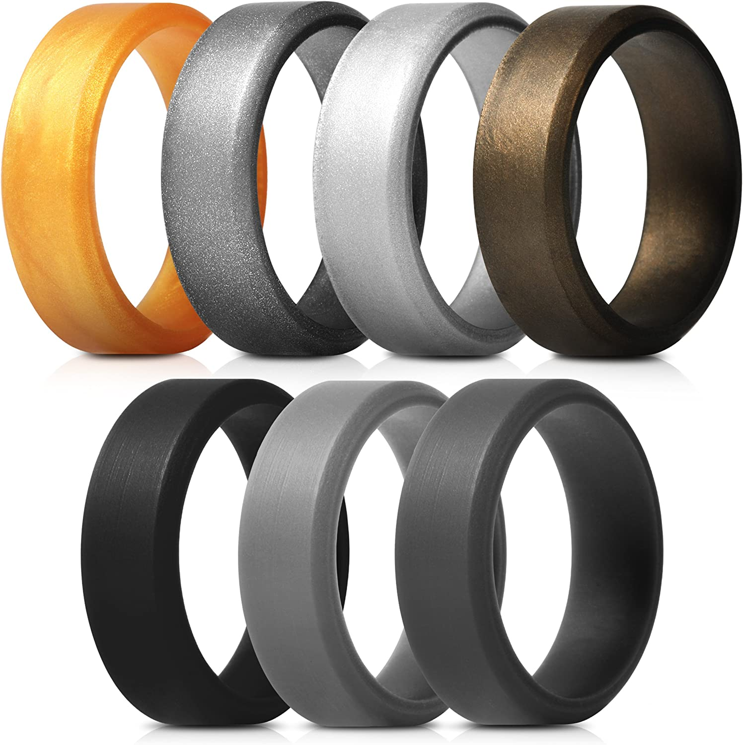 Saco Band Men's Silicone Rings Angled store Polished with Desig Max 63% OFF Aspect