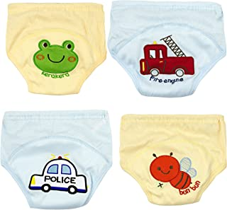 Adorable Toddler Potty Training Pants for Baby Boys and Girls, Size for 9 Months to 3 Years, Pure Cotton, 4 Pack (18-24Months,  A)