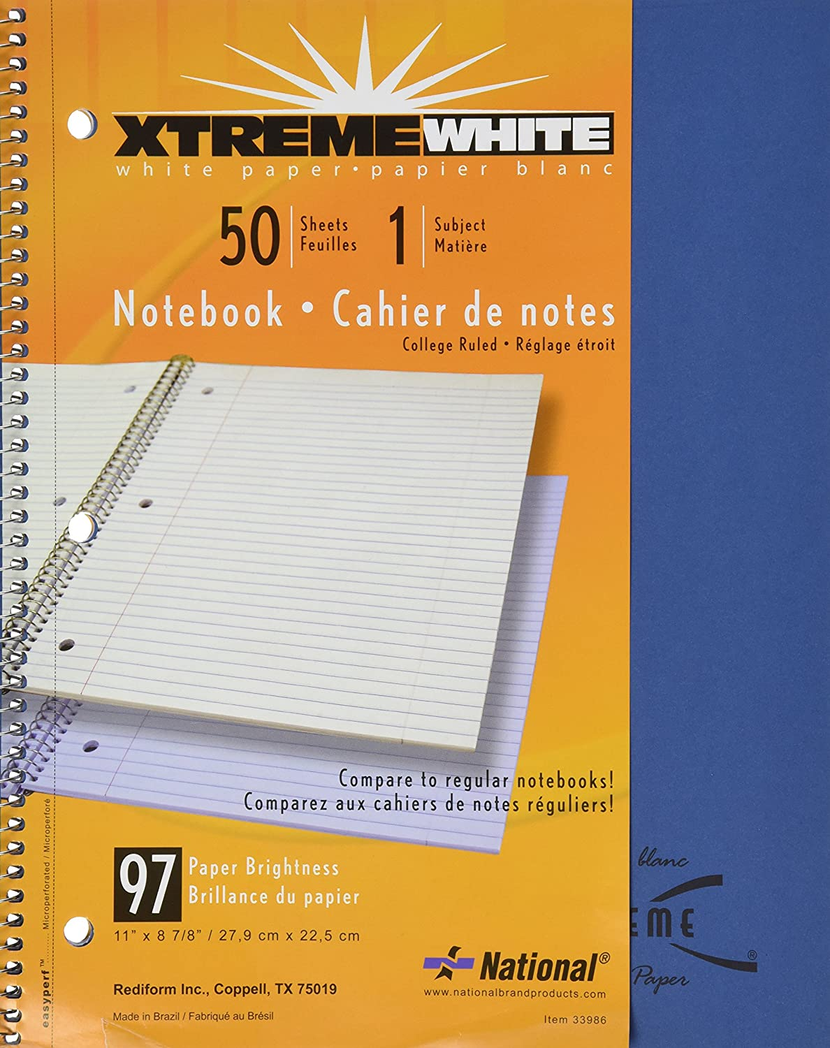 Subject Subject Subject Wirebound Notebook, College Margin Rule, Ltr, WE, 50 Sheets Pad B0016067TG | Garantiere Qualität und Quantität