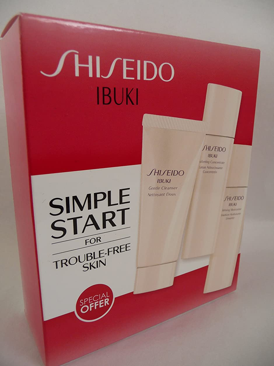 噂美的透ける資生堂 IBUKI Simple Start Set: Gentle Cleanser 30ml + Softening Concentrate 30ml + Refining Moisturiser 30ml 3pcs並行輸入品