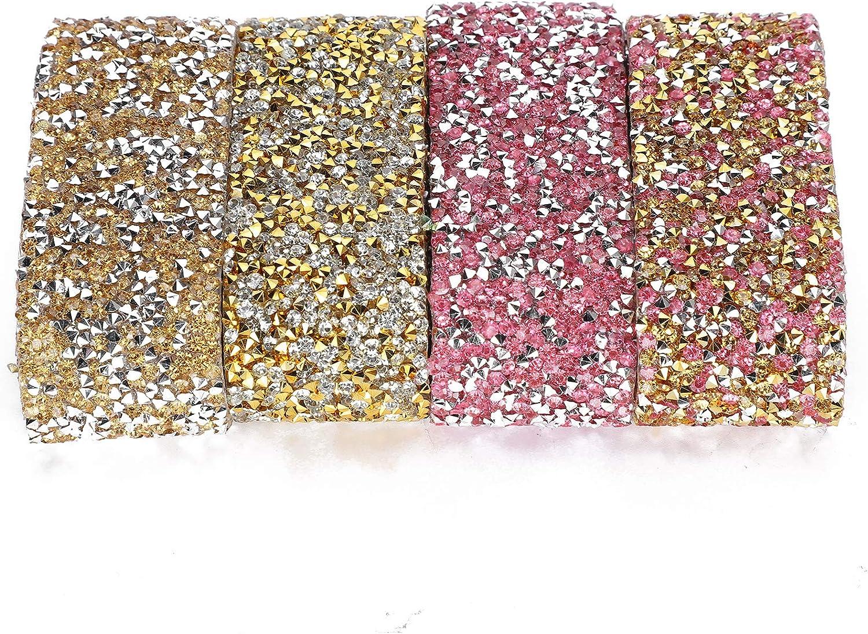 Mxzzand Shiny Resin Today's only Rhinestones Ribbon Spa with Adhesive Diamond Popular