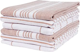 KAF Home Monaco Mixed Yarn Dyed Reversible Terry Dish Towel Set of 6, 100-Percent Egyptian Cotton, 18 x 28-inch Kitchen To...