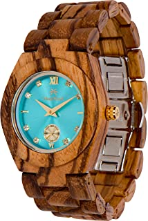 Wooden Watch Hana Collection For Women Analog Wood Watch Bamboo Gift Box