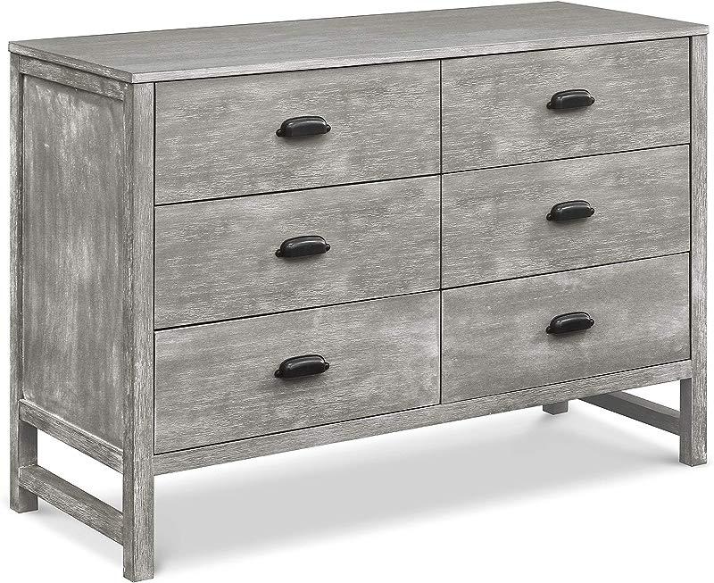 DaVinci Fairway 6 Drawer Double Dresser Cottage Grey