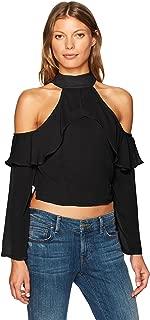 قميص Lucca Couture نسائي بكشكشة بكتف بارد MIA