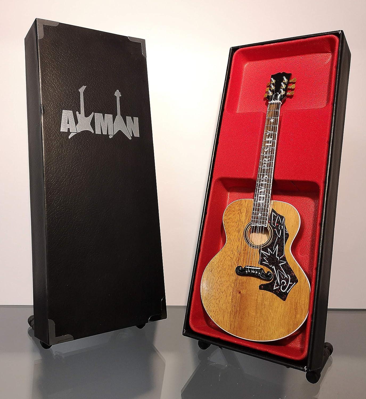 Elvis Presley - Réplica de guitarra en miniatura con caja de exhibición y soporte