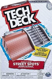 TECH DECK, Build-A-Park Street Spots, Brooklyn Banks, Ramps for Boards & Bike
