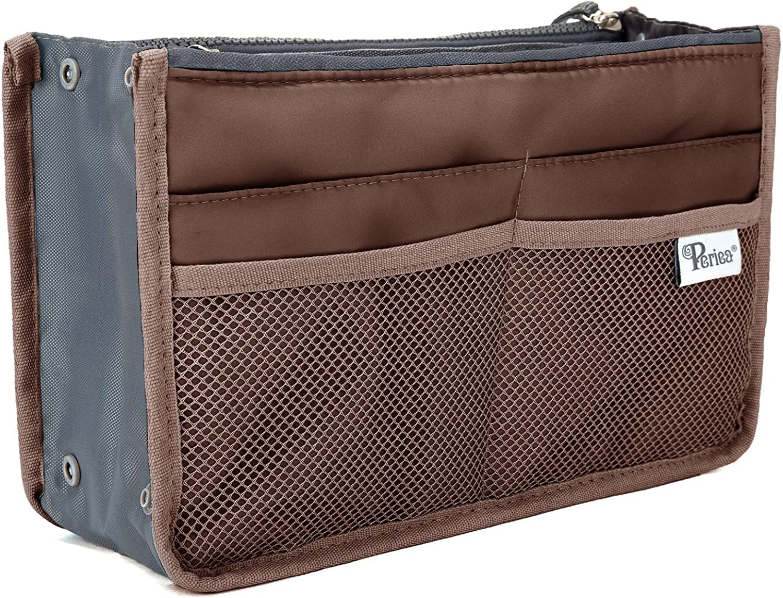 Periea Handbag Organizer, 12 Compartments  Chelsy (Brown, Medium)