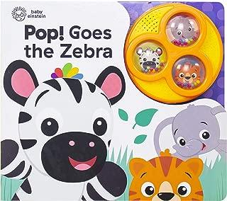 Baby Einstein - Pop! Goes the Zebra - Popping Button Sound Book - PI Kids
