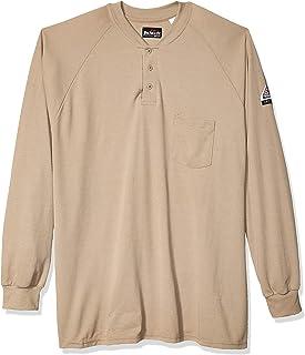 Bulwark FR Men's 6.5 Oz. Cooltouch2 Long Sleeve Henley Shirt