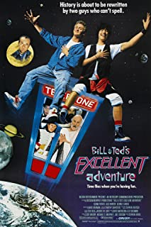 Bill & Ted's Excellent Adventure (1989) Movie Poster 24x36 inches