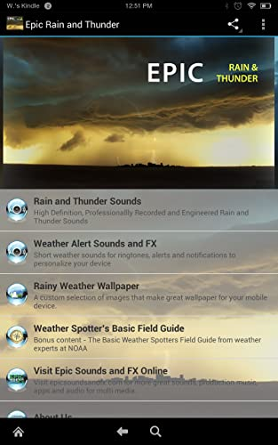 『Epic Rain & Thunder Sounds - with featured ebook: Basic Weather Spotters' Field Guide』の2枚目の画像