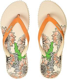 BAHAMAS Women Orange Beige Flip-Flops-6 UK (39 1/3 EU) (BH0132L_ORBG0006)