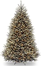National Tree 7.5 Foot Dunhill Blue Fir Tree with 750 Clear Lights, Hinged (DUBH-75LO)