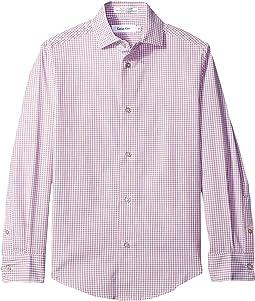Long Sleeve Gingham Shirt (Big Kids)