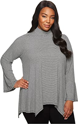 B Collection by Bobeau - Plus Size Anna Mock Neck