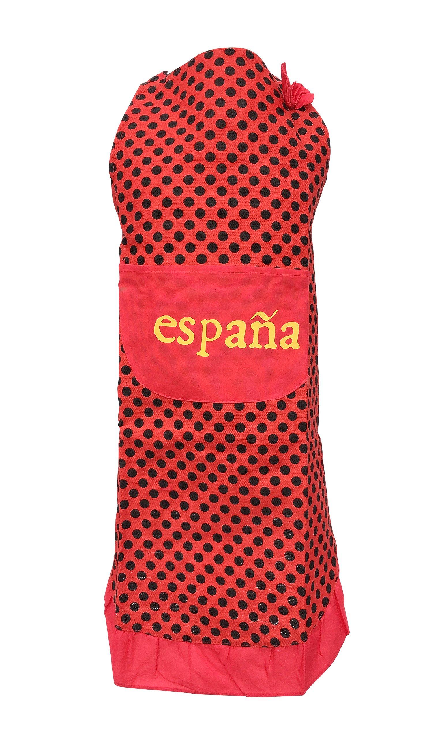 La Señorita Delantal España rojo puntos negro Flamenco: Amazon.es ...