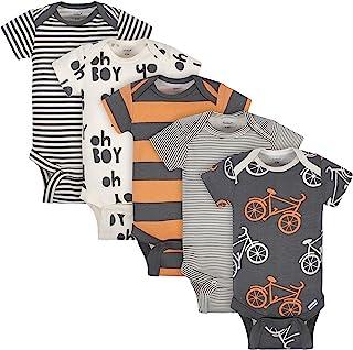 Gerber baby-boys Organic 5-pack Short-sleeve Onesies Bodysuits