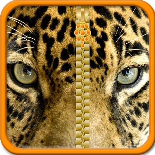 Leopard-Reißverschluss-Lock Screen
