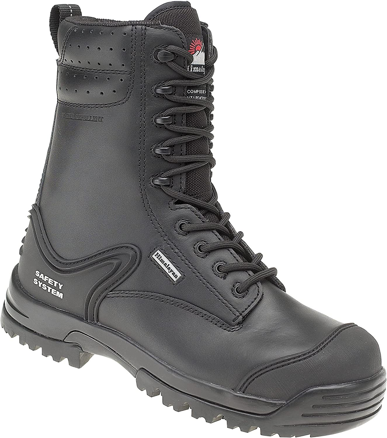 Himalayan 5204 S3 SRC Black Composite Toe Metal Free High Leg Zip Safety Boots