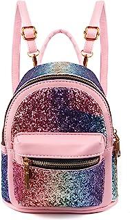 SEALINF Women Girl Bling Mini Backpack Convertible Shoulder Cross Bags Purse
