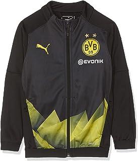 Puma Kid's BVB Int'l Stadium Jacket Jr with Evonik Logo Track Black-Cyber Yellow