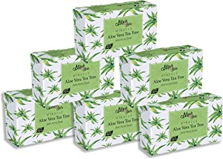 Mirah Belle - Organic Aloe Vera - Tea Tree Anti Acne Soap Bar (Pack of 6-125 gm) - Acne and Infection Prone, Dehydrated Sk...
