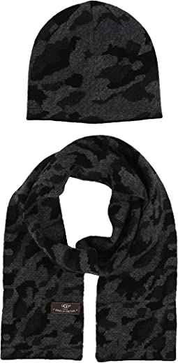 Camo Beanie and Scarf Boxed Set (Toddler/Little Kids)