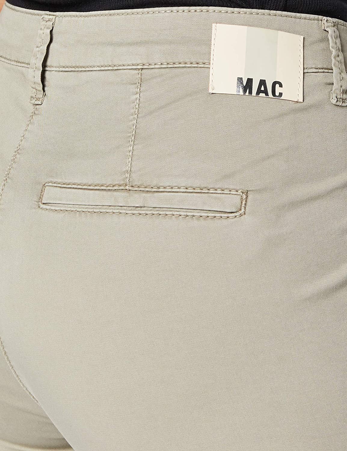 MAC Jeans Chino Turn Up Jean Droit Femme Vert (Reed Ppt 346r)