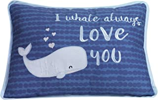 Lambs & Ivy Oceania Decorative Throw Pillow - Blue Ocean Whale