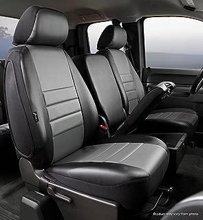 Fia SL67-35 GRAY Custom Fit Front Seat Cover Split Seat 40/20/40 - Leatherette (Black w/Gray Center Panel)