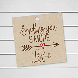 24 S'More Love Tags, Kraft Wedding Favor Tags for Smores, Sending you S'More Love (SQ-181)