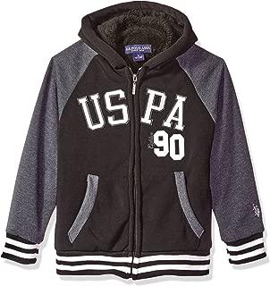 Boys' Sherpa Lined Zip Up Hooded Sweatshirt