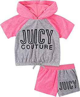 Juicy Couture Girls' 2 Pieces Hoody Shorts Set