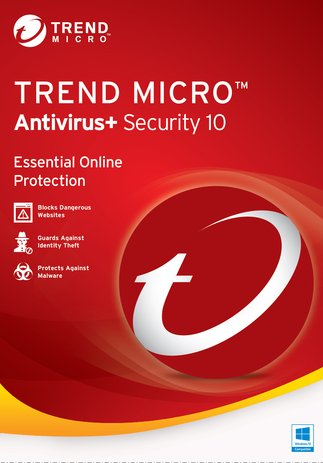 Trend Micro Antivirus+ 10 Download 1 Direct store User Limited time trial price