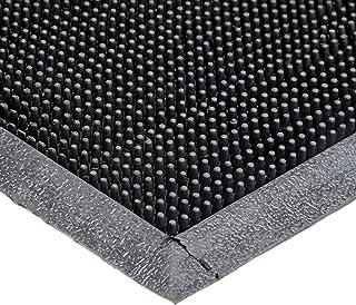 "Durable Corporation-396S2432 Heavy Duty Rubber Fingertip Outdoor Entrance Mat, 24"" x 32"", Black"